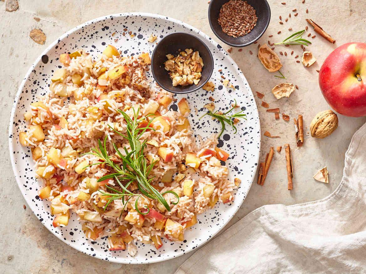 Rozgrzewające risotto z gruszką i jabłkiem