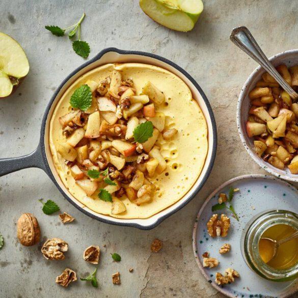 Omlet z orzechami i jabłkiem